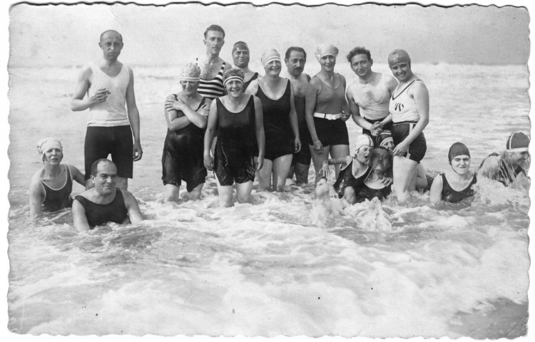 Strandfoto familie Lipschütz. Foto: W. Willems