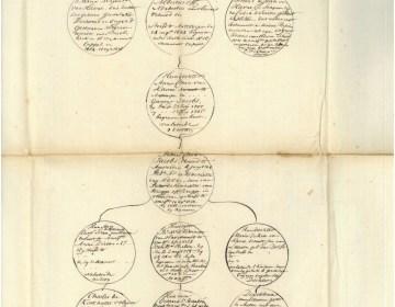 Een waar slagveld, deze genealogische 'slagboom'