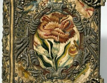 Textiele boekband, ca. 1615