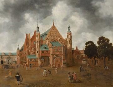 Het Binnenhof met de Ridderzaal - Hollandse school, ca. 1655 (Haags Historisch Museum)