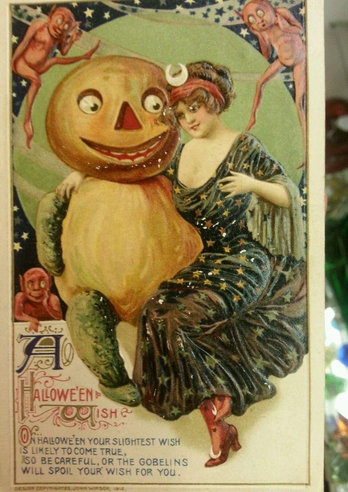 Halloween-kaart uit 1913 (eBay)