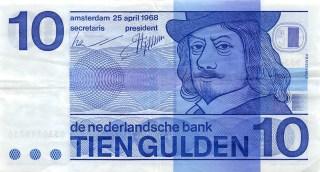 Bankbiljet van 10 gulden met Frans Hals (verzamelhuis.net)