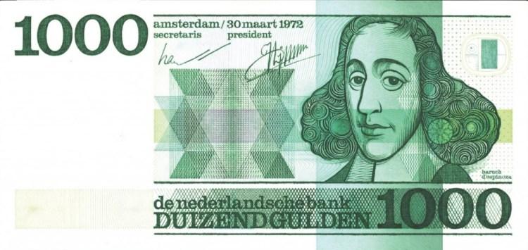 Bankbiljet van 1000 gulden met Baruch Spinoza (spinoza.blogse.nl)