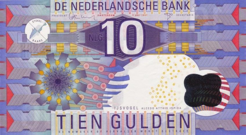 Laatste briefje van 10 gulden (worldbanknotescoins.com)