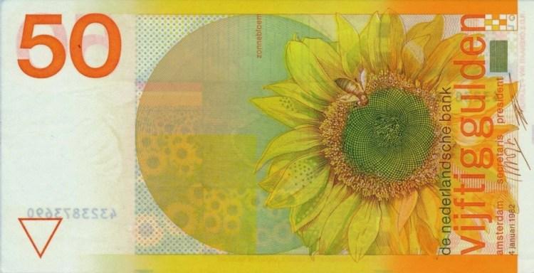 Laatste briefje van 50 gulden (worldbanknotescoins.com)