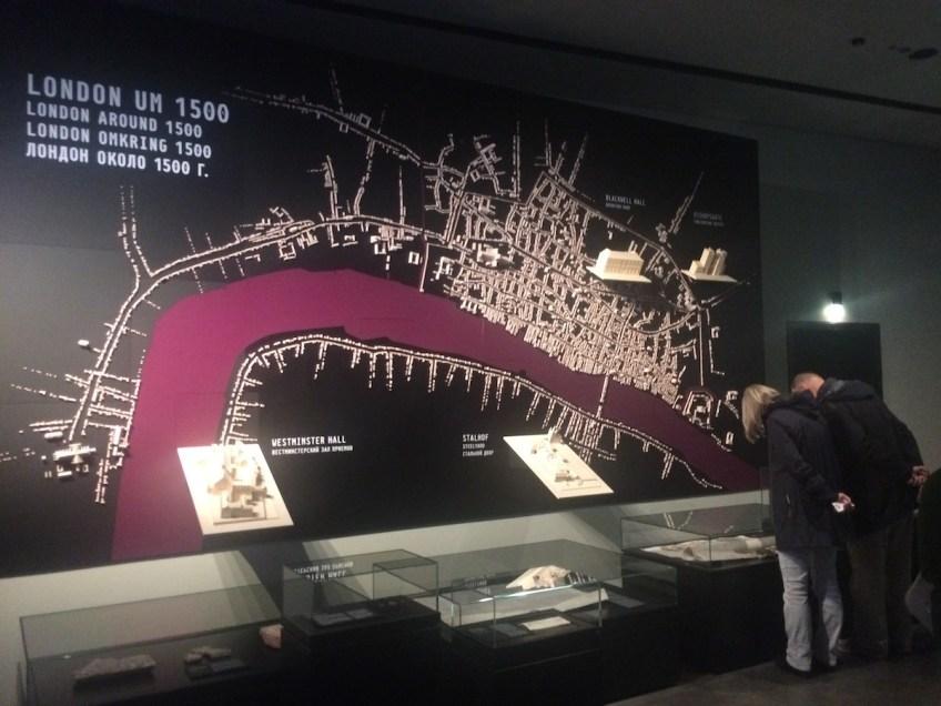 Londen in 1500 is de laatste zaal van Deel 1. De macht en reikwijdte van de Hanze komen hier goed tot hun recht.