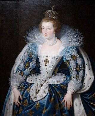 Portret van de Franse koningin-moeder Anna van Oostenrijk (Peter Paul Rubens)