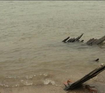 Scheepswrak gevonden dankzij lage waterstand (Omroep Gelderland)