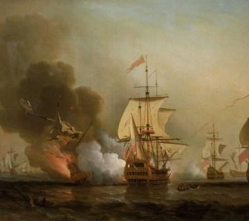 De San José wordt tot zinken gebracht (Samuel Scott)
