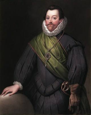 Francis Drake door Henry Bone
