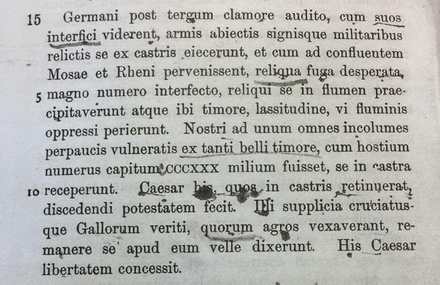 ...uit De Bello Gallico...