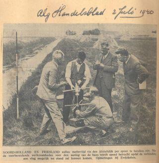 In de zomer van 1940 werden in de Anna Paulownapolder metingen gedaan met het oog op plannen de lijn Anna Paulowna-Harlingen alsnog aan te leggen.
