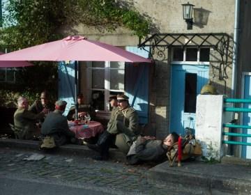 Re-enactors tijdens een Romagne-weekend (www.facebook.com/deslagvelden)