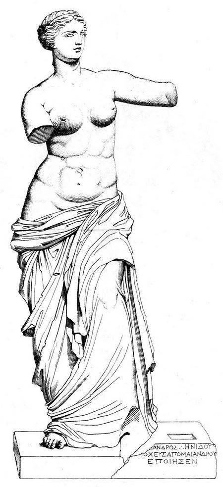Debays tekening van de Venus van Milo