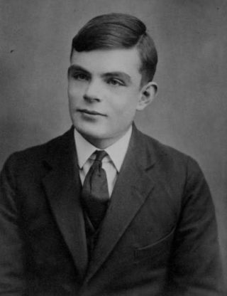 Alan Turing op 16-jarige leeftijd