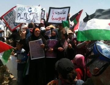Demonstrerende Palestijnen, 2012 - cc