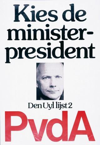 Den Uyl op het verkiezingsaffiche van 1977