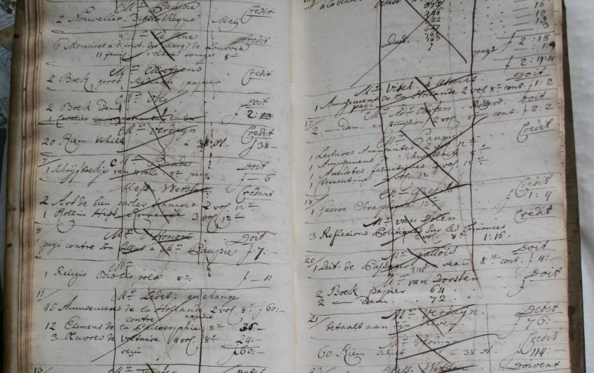 kladboek,  'Kladboek van Pieter van Cleef, 1739-1762' [signatuur VC 1.]