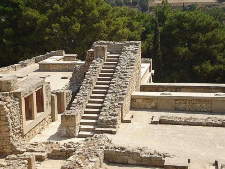 Restanten van het paleis van Knossos