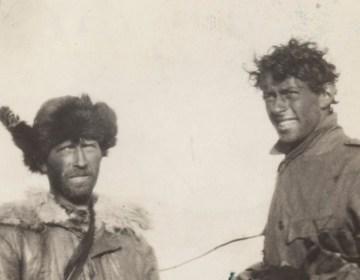Sjef van Dongen (rechts) op de Noordpool, 1928. Bron: Zeeuws Archief