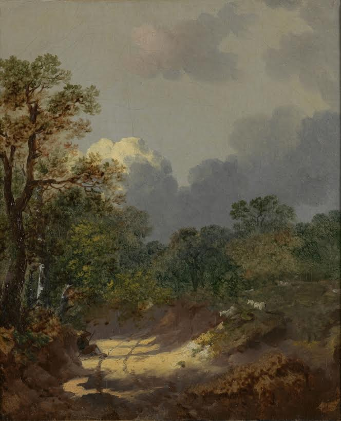 Thomas Gainsborough, Boomachtig landschap, ca 1745, Rijksmuseum Twenthe (Gainsborough in his own words)