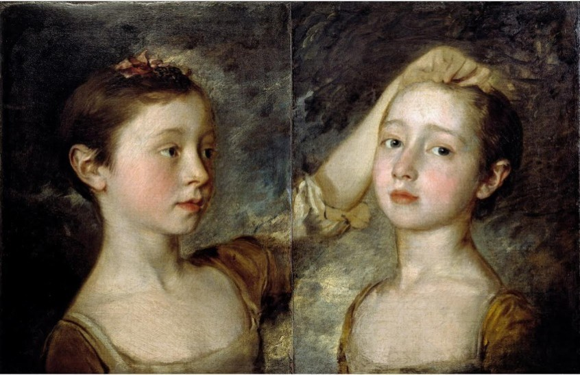 Thomas Gainsborough, The artist's two daughters, ca 1758