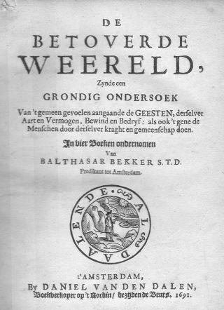 De betoverde weereld van Balthasar Bekker