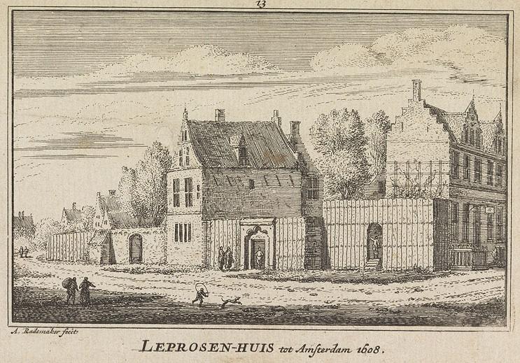 Abraham Rademaker, Leprosen-Huis tot Amsterdam 1608, uitgave 1727