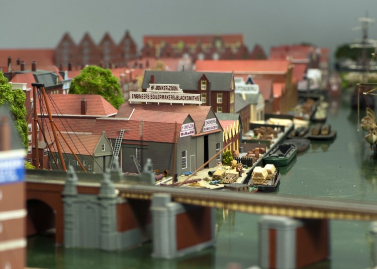 Modelbaan Amsterdam CS 1889 - Houthaven (Spoorwegmuseum)
