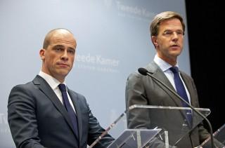 Diederik Samson en Mark Rutte werkten na de verkiezingen nauw samen - cc