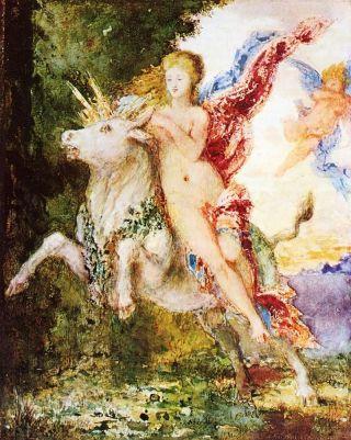 Europa en de stier (ca. 1869) van Gustave Moreau