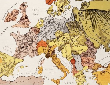 Europa in 1914 - Satirische kaart