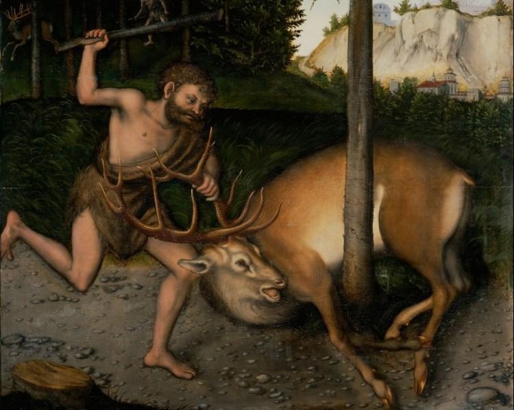 Herakles (Hercules) en de Hinde van Keryneia (Atelier Lucas Cranach de Oude)