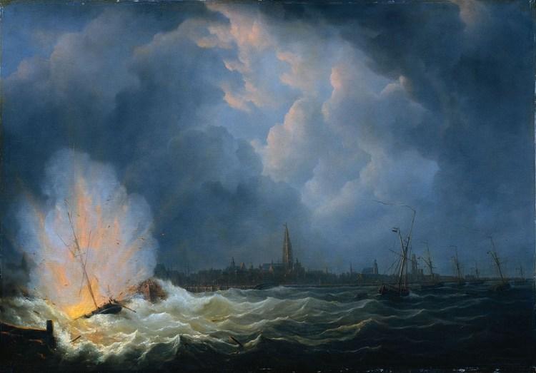 Ontploffing van het schip bij Antwerpen, 5 febr. 1831
