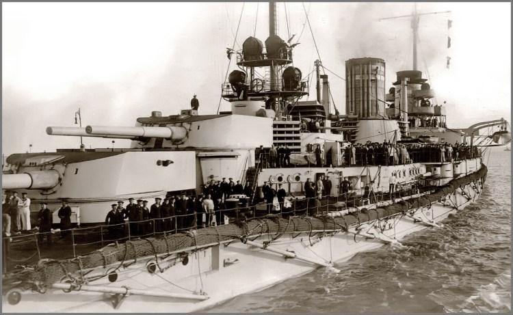 Het Duitse oorlogsschip SMS Goeben. Bron: dennilfloss.blogspot.nl