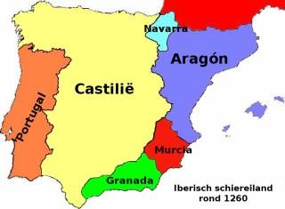 Iberisch schiereiland rond 1260
