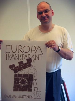 Paul van Buitenen als lijsttrekker van Europa Transparant - cc