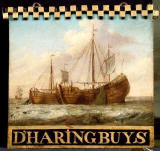 Uithangbord met haringbuis (Collectie Rijksmuseum)