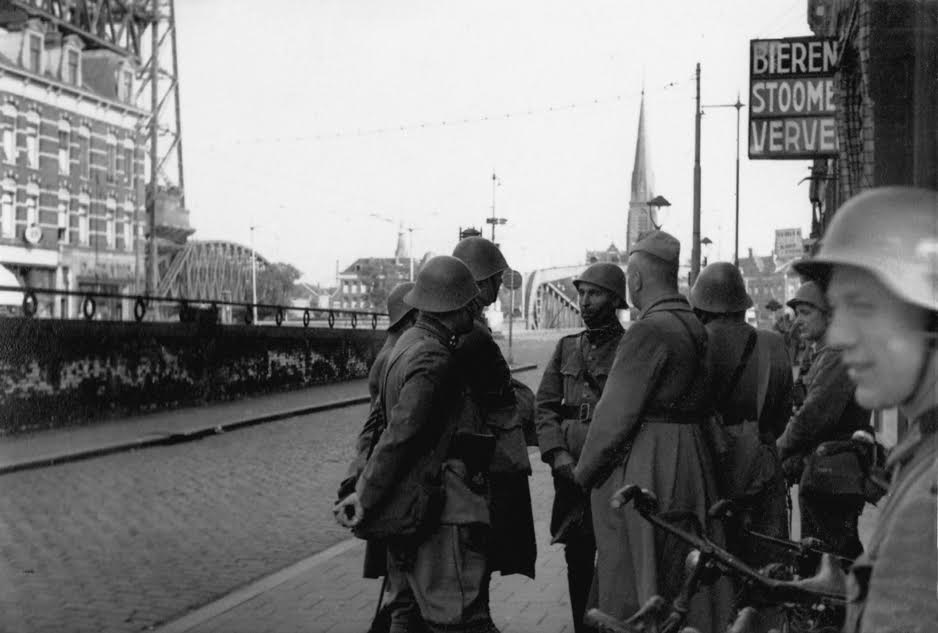 Gevangengenomen Nederlandse militairen in de Van der Takstraat
