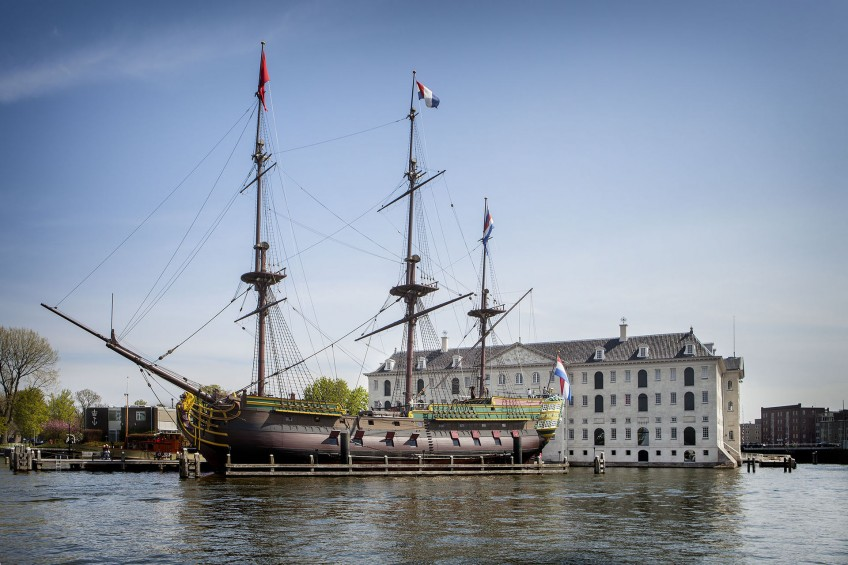 Replica van de Amsterdam voor Het Scheepvaartmuseum (Amsterdam)