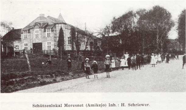 Het Schutterslokaal in Moresnet, waar in 1908 werd aangekondigd dat het Esperanto de landstaal van Amikejo zou worden.