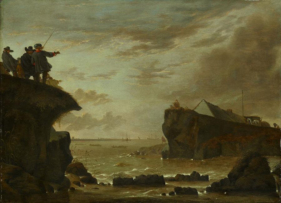 Schilderij over de doorbraak van de St. Anthonisdijk in 1651. Bron: Amsterdam museum.