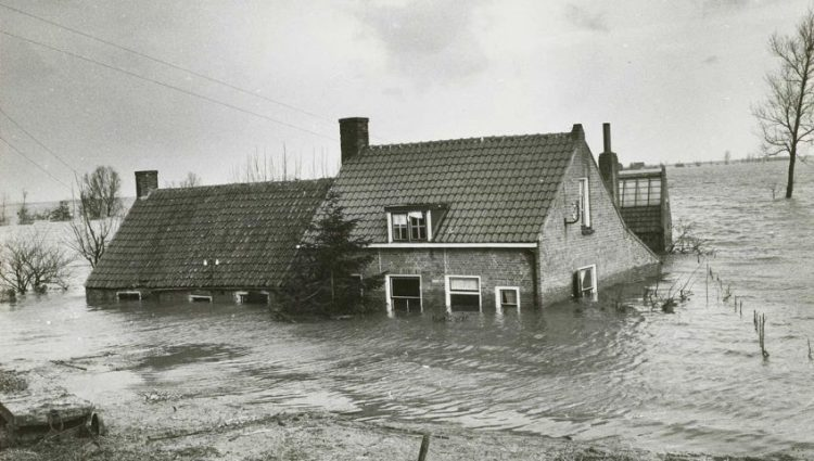 Watersnoodramp 1953. Bron: Watersnoodmuseum (www.watersnoodmuseum.nl)