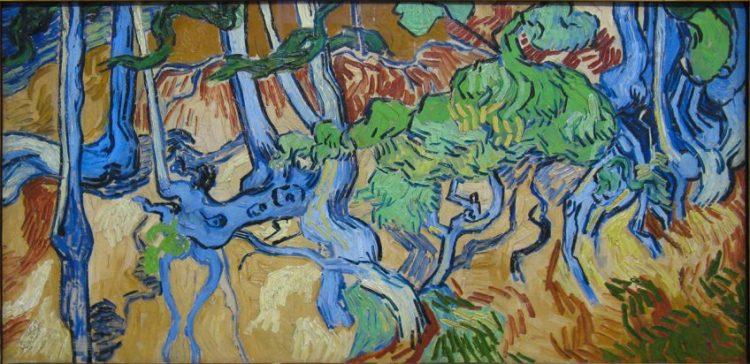 Boomwortels, het vermoedelijk laatste schilderij van Van Gogh (1890)