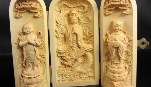 Chinees doosje met Boedhha-houtsnedes. Bron: www.aliexpress.com