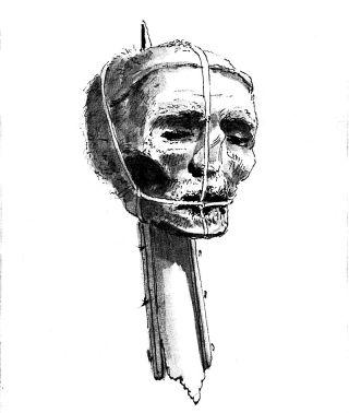 Achttiende-eeuwse tekening van het hoofd van Oliver Cromwell - wiki