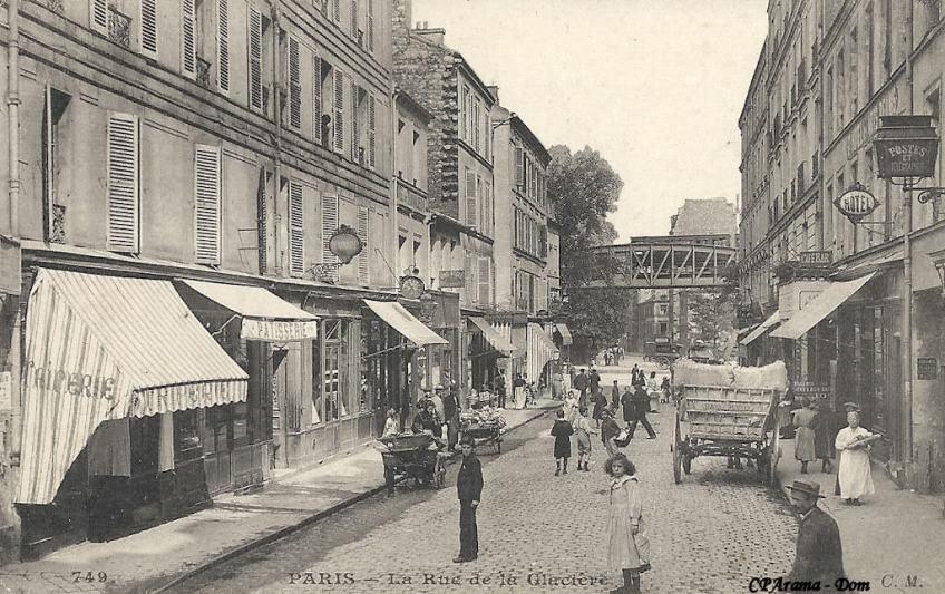 De Rue de La Glacière, rond 1910.