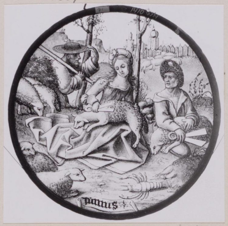 Junius, glasruit, 1510. Amsterdam Museum KA 1410