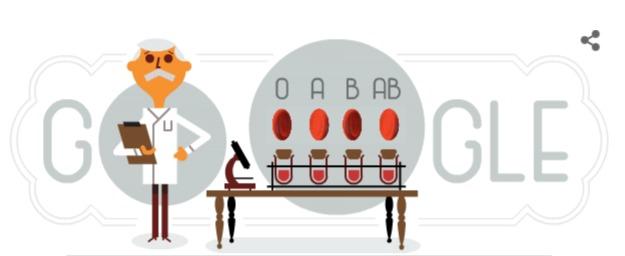 Google eert bloedgroep-ontdekker Karl Landsteiner