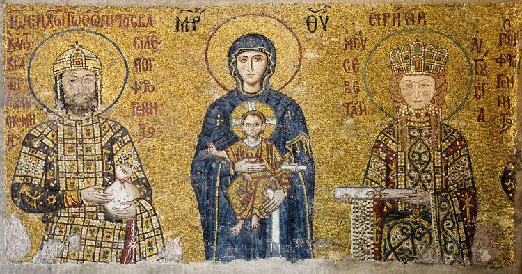 Mozaïek in de Aya Sofia (wiki)